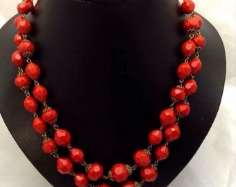 1950's Red Beads