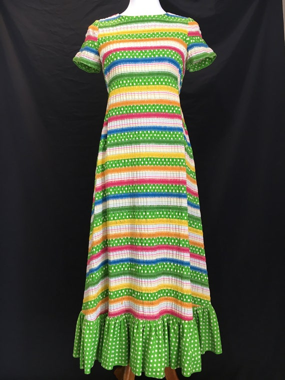 70's Albert Nipon Fiesta Dress - image 1
