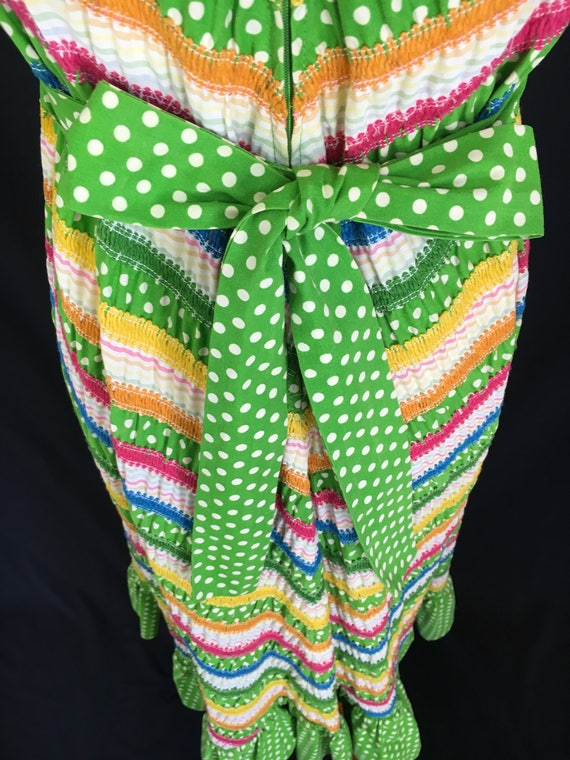 70's Albert Nipon Fiesta Dress - image 9