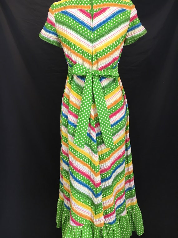 70's Albert Nipon Fiesta Dress - image 7