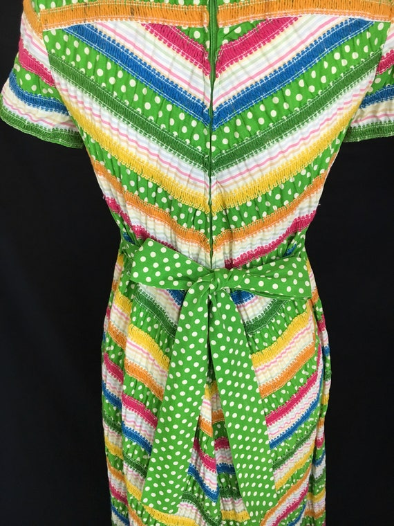 70's Albert Nipon Fiesta Dress - image 6