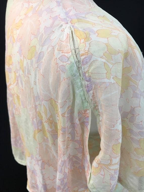 Beautiful 20's Sheer Floral Flapper Dress - image 5