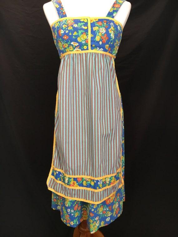 Adorable 70's Jonathan Logan Hippie Apron Dress