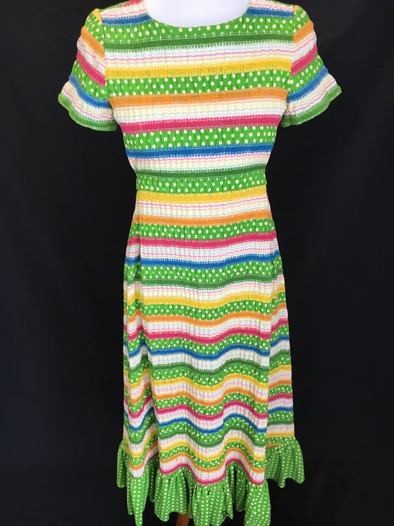 70's Albert Nipon Fiesta Dress - image 2