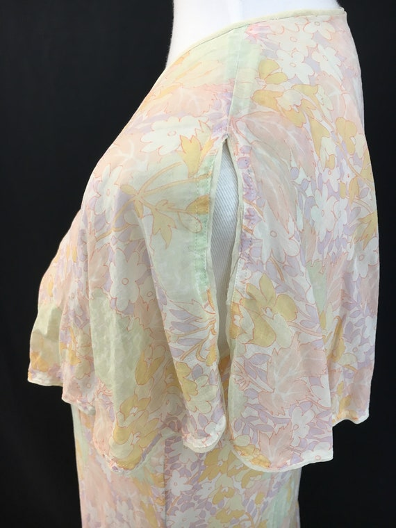 Beautiful 20's Sheer Floral Flapper Dress - image 4