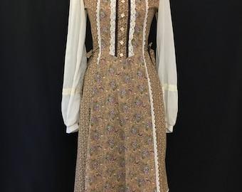 70's Midi Gunne Sax Dress S/M