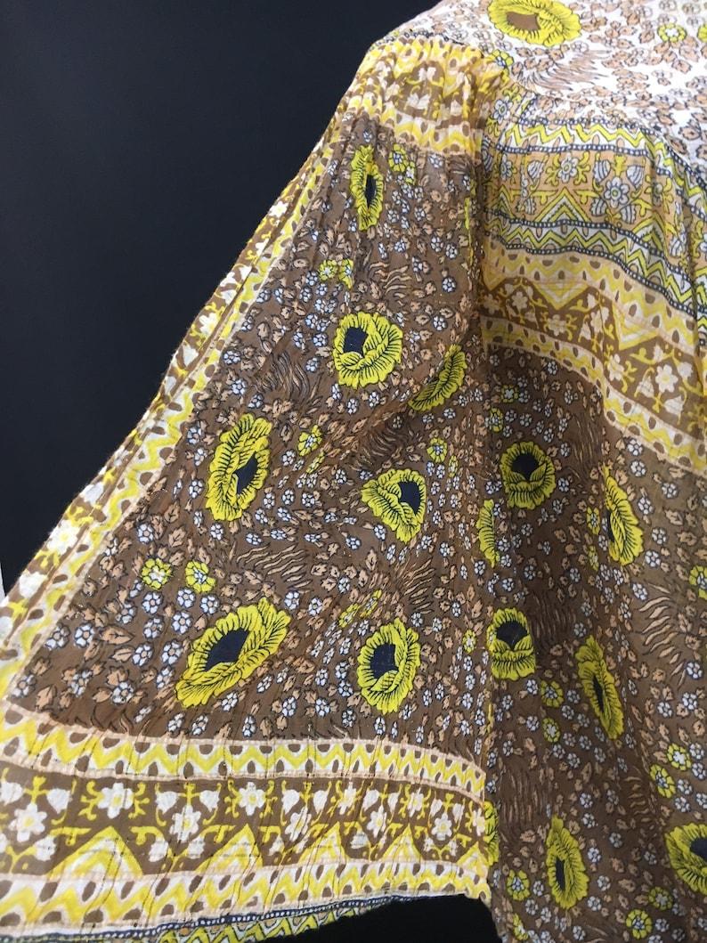 Indian Cotton Garconiera Poncho Style Top