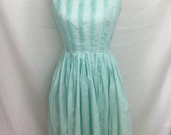 1950's Pale Robin Egg Blue L'Aiglon Dress