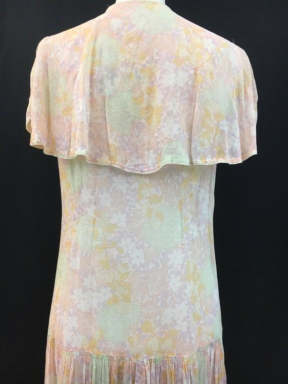 Beautiful 20's Sheer Floral Flapper Dress - image 6