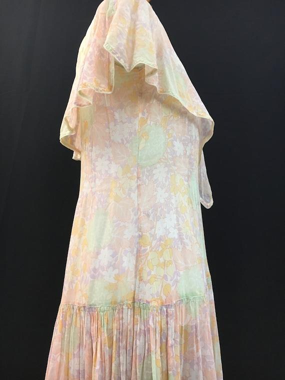 Beautiful 20's Sheer Floral Flapper Dress