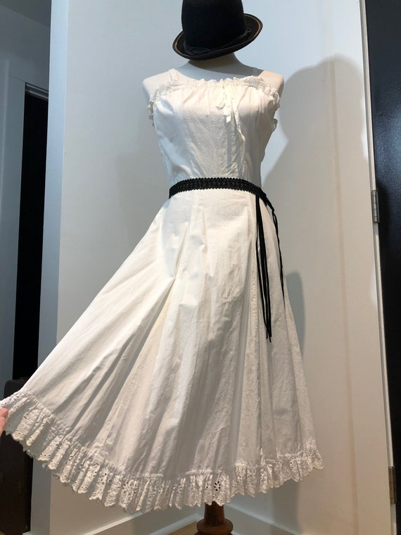 White 50's Petticoat Sundress