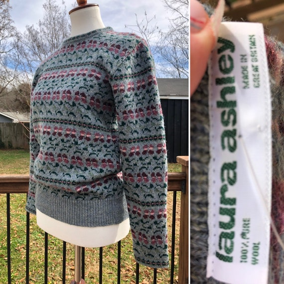 70's Cozy Wool Laura Ashley Sweater Sz M
