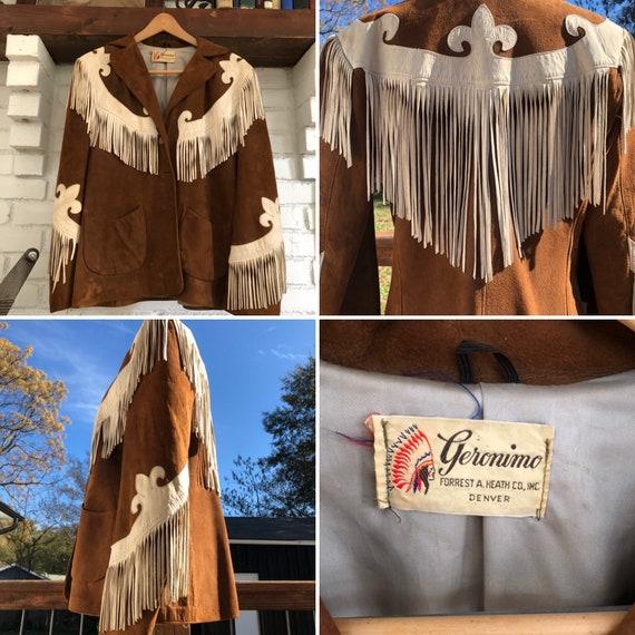 Rare 40's Geronimo Western Leather Fringe Jacket