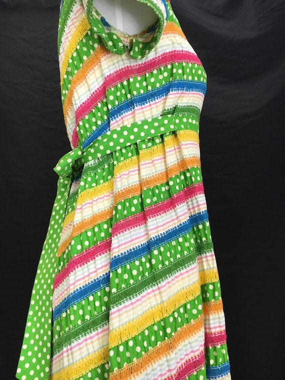 70's Albert Nipon Fiesta Dress - image 8