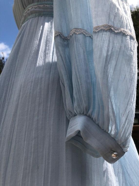 70's Cloud Blue Gunne Sax Maxi Dress Sz XS - image 5