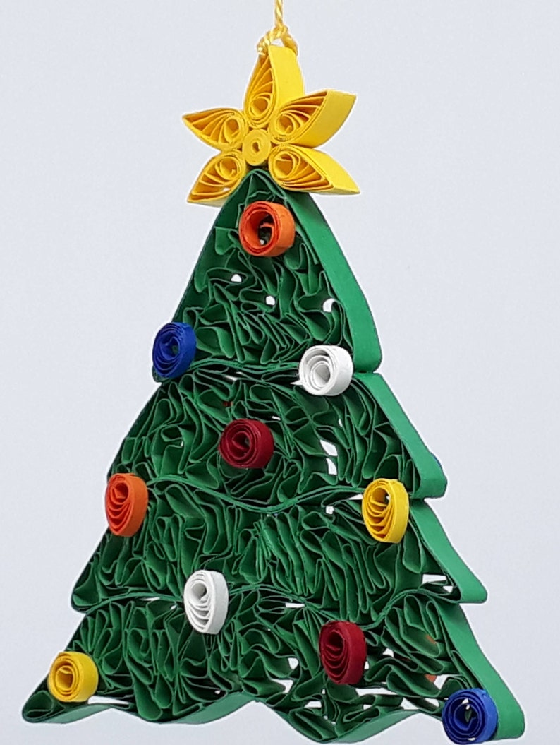 Quilled Christmas Tree Ornament Etsy