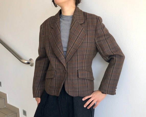 1940'S Checkered vintage jacket Vintage suit 40's
