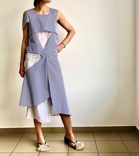 y2k striped dress/Vintage dress/Sistan Varvara cot