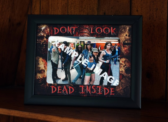 The Walking Dead Style Picture Frame Black Frame With A Etsy