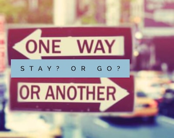 Should I stay or should I go? Love relationship tarot reading