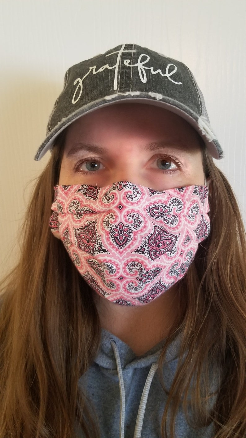 Reusable/Washable Face Mask with 3 layers including filter and image 0