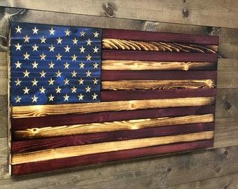 20f32984957 Extra Large Concealment Flag - Rustic Antique American Flag - RFID Locks  Standard