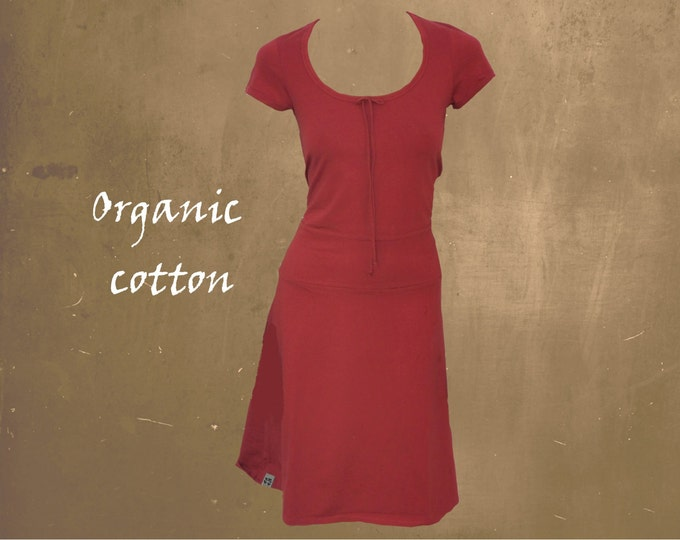 t shirt dress biological cotton, organic cotton basic dress, GOTS certified cotton dress, fair trade clothing, fair fashion, sustainable