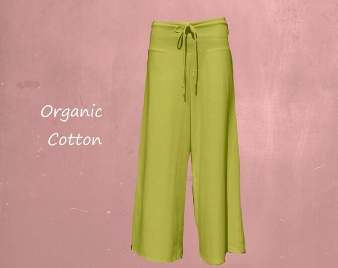 wide organic yoga pants, wide jersey pants, pants organic cotton flared legs, yoga pants, sustainable fashion, fair trade, fair fashion