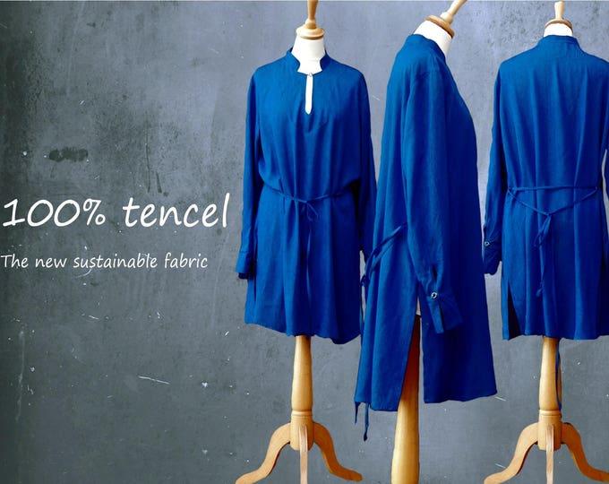 Tencel kimono tunic dress