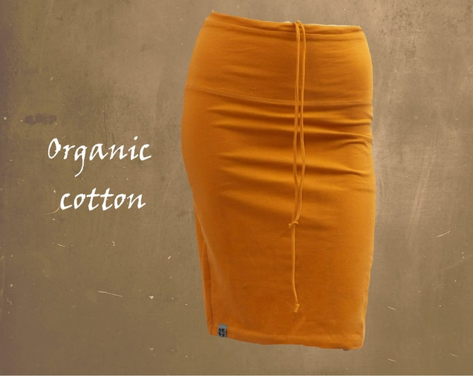 pencil skirt organic cotton, organic cotton tube skirt, tricot skirt organic cotton