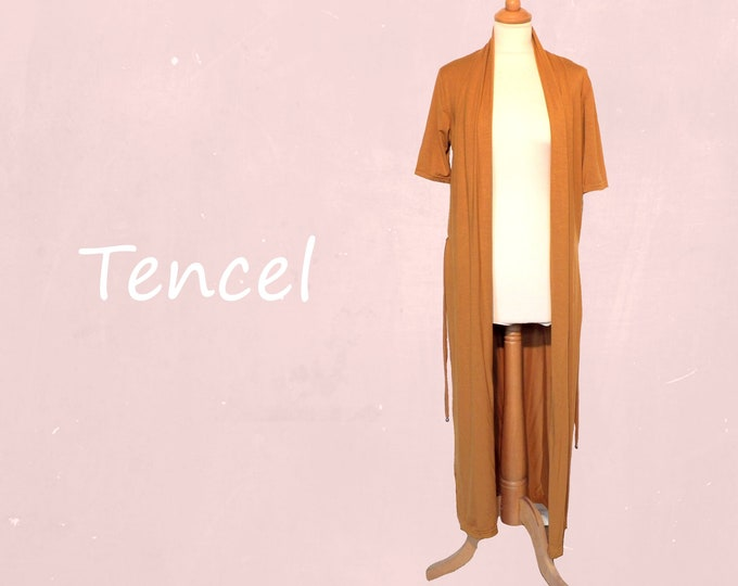 Tencel long summer cardigan