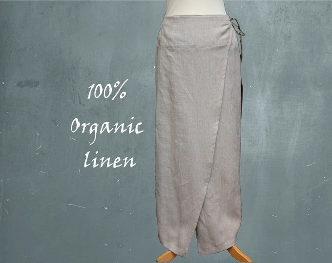 linen skirt, organic linen wrap skirt, long linen wrap skirt, recyclable long wrap skirt, fair trade, fair fashion, sustainable clothing