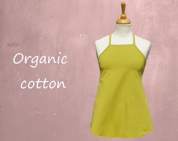 organic cotton A-line camisole, A-line singlet biological cotton, tank top with straps GOTS certified cotton