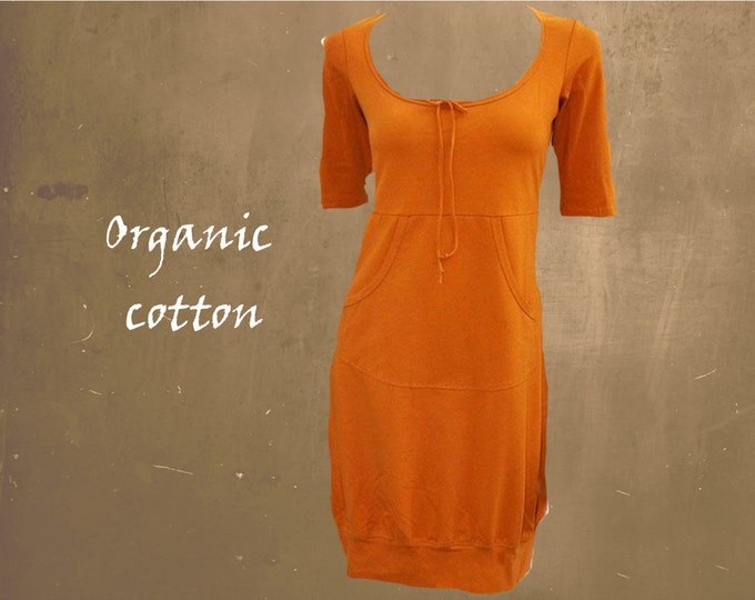 tunic organic cotton, sweater tunic biological cotton, sweater dress GOTS certified cotton