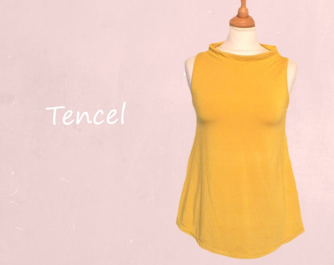 Tencel A line shirt with collar