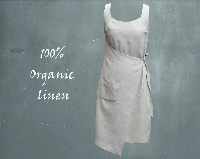 organic linen dress, summer dress biological linen, recyclable, ready for recycling, sustainable, fair trade, fair fashion