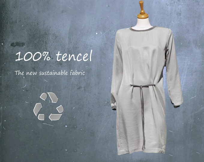 tencel dress, tencel tunic dress