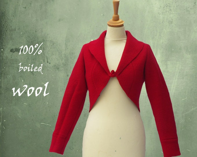 bolero in boiled wool,boiled wool bolero