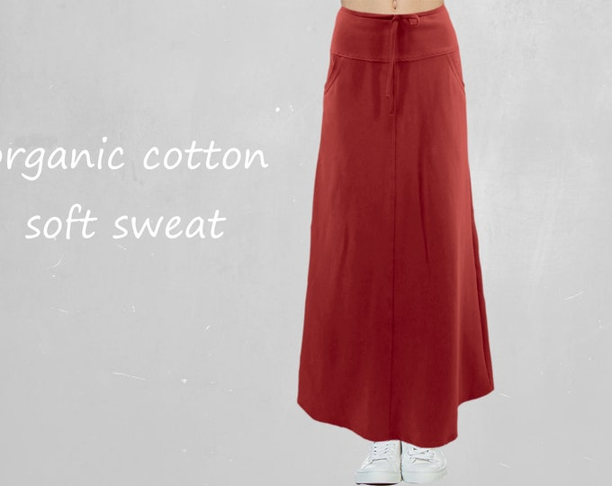 Trending maxi skirt made of soft sweat organic cotton