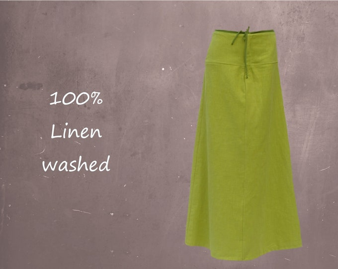 Maxi skirt made of washed linen