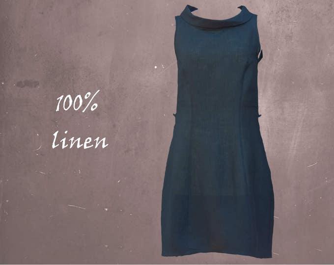 Linen A-line blouse-dress, linen shirt-dress, summer tunic, summer dress, linen summer tunic, linen dress