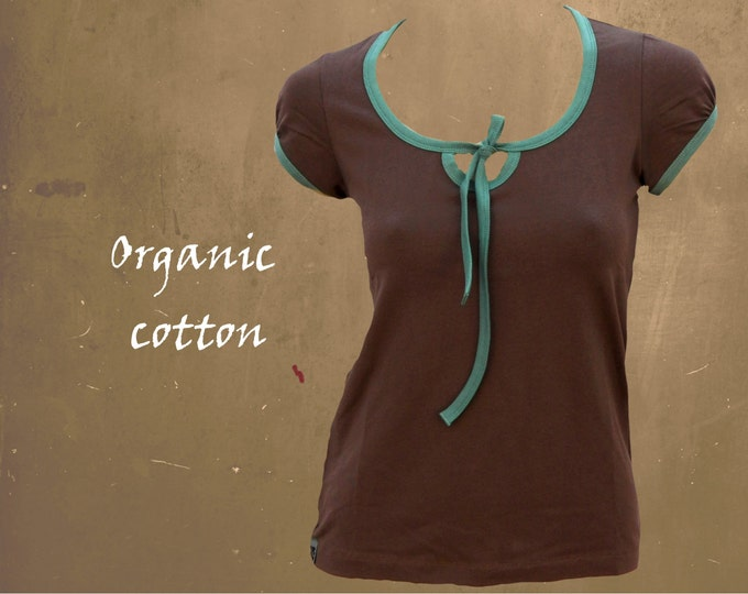 organic cotton shirt, T shirt organic cotton, shirt cetified biological cotton, summer shirt with short sleeve