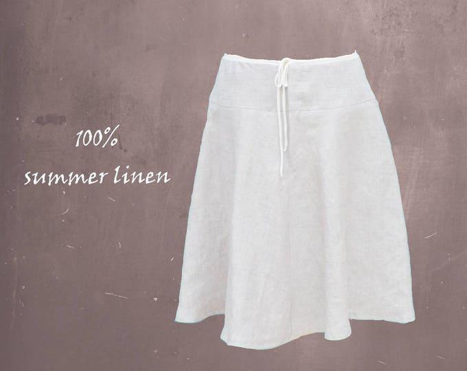 linen billowing skirt, linen summer skirt, wide skirt