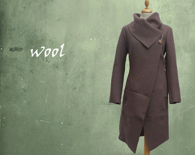 wool jacket, coat made of boiled wool, wool cardigan/jacket