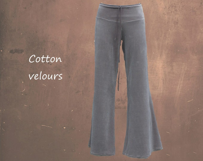 velours flared pants