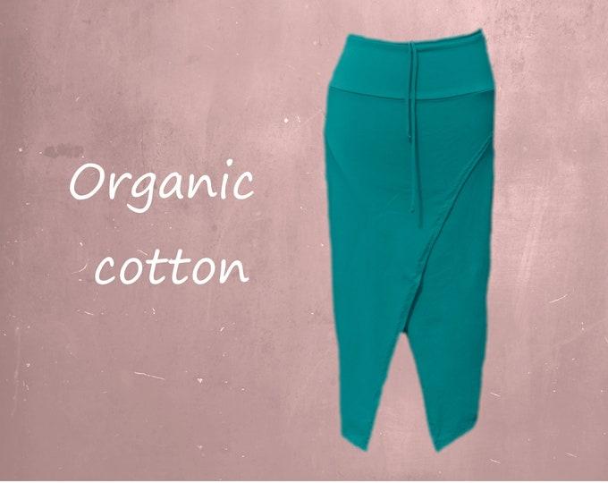 midi pencil skirt organic cotton, organic cotton tube skirt, tricot skirt organic cotton