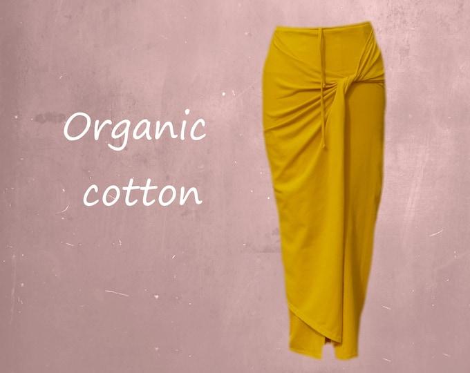 maxi pencil skirt organic cotton, organic cotton tube skirt, tricot skirt organic cotton