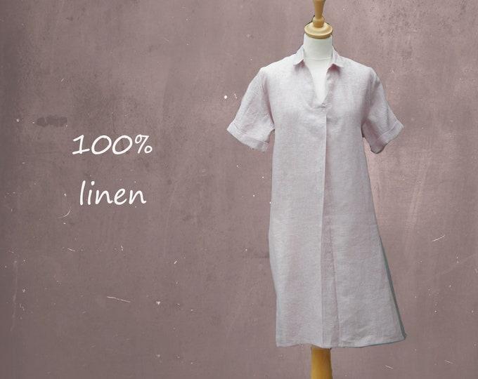 linen shirt-dress in chambray