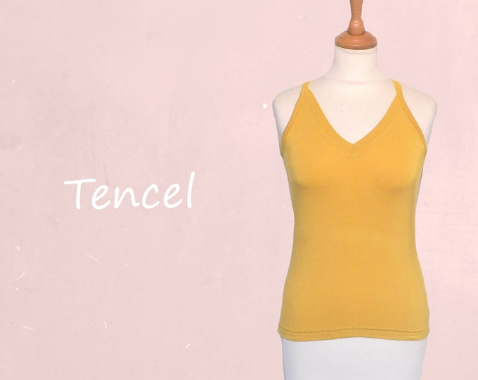 Tencel camisole with V