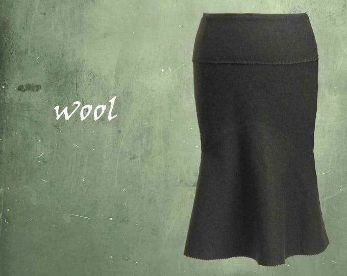 wool skirt, A line wool skirt, winter wool skirt